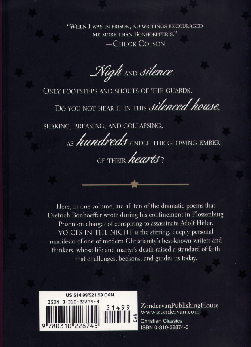 Dietrich Bonhoeffer back cover